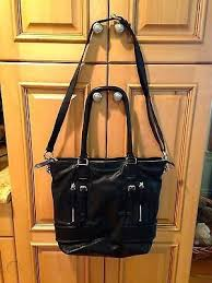 cole haan black leather tote bag 13