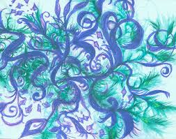 Slithering Vines Original Mixed Media by Adele Scott