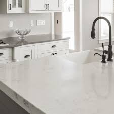 are white quartz countertops stain