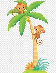 Sticker Mural Wall Decal Decoratie Cartoon Jungle Mammal Child Leaf Png Pngwing