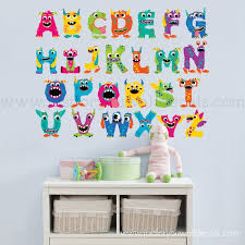 Monster Wall Decals Alphabet Wall Decal Playroom Wall Decal Etsy