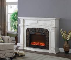 62 white grand electric fireplace