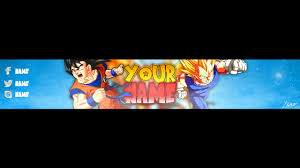 Make youtube banner dragon ball z style by Liad_rahum