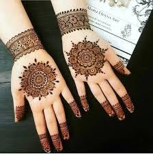 Beautiful Mehndi Design In Circle