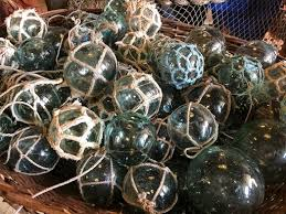 glass floats nautical antique warehouse