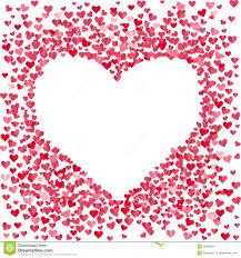 Coração Vazio Feito De Corações Pequenos Dos Confetes Ilustração ...