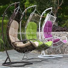 woven big thick rattan swing chair