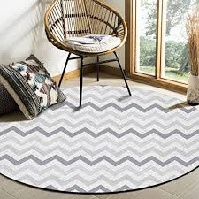 Amazon Com Gray Chevron Area Rug Round Rugs 3ft Zig Zag Pattern Collection Area Runner Circle Rug Non Slip Carpets Kids Living Room Bedroom Indoor Outdoor Nursery Rugs Decor Home Kitchen