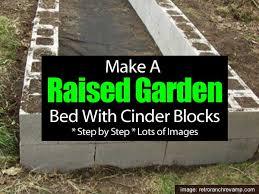 raised bed garden using concrete blocks