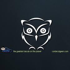 Cute Owl Car Window Decal Sticker Graphic Bird Decals