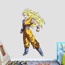 Dragon Ball Super Sayayin Phase 3 Goku Logo Wall Decal Decor Stickers Vinyl Ebay