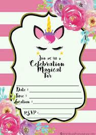 Check It Out Invitacion Invitaciones Cumpleanos Unicornio