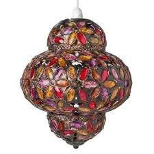 moroccan jewelled pendant
