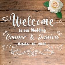 Hot Promo 36c4a2 1set Welcome Wedding Board Stickers Custom Mural Vinyl Decal Waterproof Label Engagement Sign Marry Favor Wedding Party Decor Cicig Co