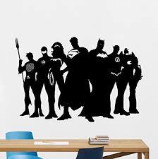 Superhero Wall Decal Marvel Dc Comics Superhero Vinyl Sticker Superman Batman Wonder Woman Flash Superhero Wall Art Design Housewares Kids Room Bedroom Decor Buy Online In El Salvador Mcartwork Design