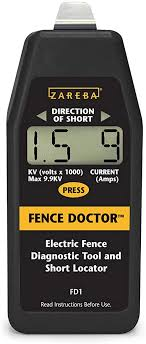 Amazon Com Zareba Fd1 Fence Doctor Digital Fence Tester And Fault Finder Livestock Enclosure Equipment Garden Outdoor