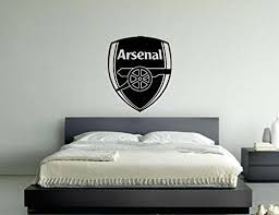 Arsenal Football Club Badge Vinyl Wall Art Sticker Decal Picture Black 55cms Wide X 63 Cms High Football Bedroom Boys Football Room Boys Football Bedroom
