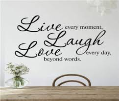 China Creative Live Every Moment Laugh Everyday Love Boyond The Words English Quotes Vinyl Wall Stickers Mural Decals Diy China Sticker And Wall Stickers Price
