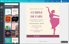 Crea Invitaciones De Bailarina Online Gratis Canva