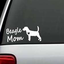 Amazon Com L1014 Beagle Mom Dog Breed Decal Sticker Arts Crafts Sewing