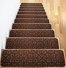 carpet stair treads set of 13 non slip