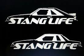 Ford Mustang Stang Life Vinyl Decal Fox Body Coupe Hatch Gt Lx 5 0 Svo