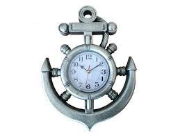 ship wheel and anchor wall clock