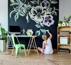 Chalkboard Vinyl Wall Decal Peel And Stick Chalk Board Wallpaper Decal American Wall Designs