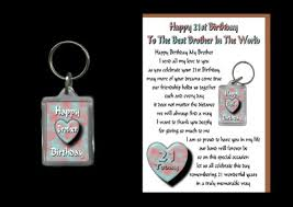 This Is An Original Brother 21st Birthday Card With A Removable Happy Birthday Keyring Gift To Give To Your Brother As He Celebrates His 21st Birthday Honey