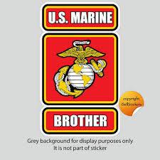 Ma 3099 Marine Brother Usmc Military Vinyl Bumper Sticker Car Window Decal For Sale Online Ebay