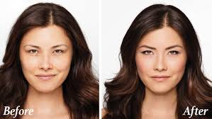 look younger makeup of a confident woman