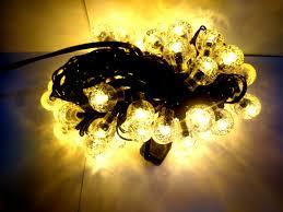 Dây đèn Led Trang trí Bi bọt nước nhỏ 80 bóng không nháy - màu vàng ấm - Đèn  trang trí Thương hiệu OEM