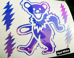 Dancing Bear Bolts Vinyl Decal For Laptops Cars Water Bottles Etc 6 Rad Colors Available 541dose