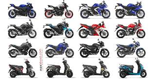 full list of yamaha bikes scooters