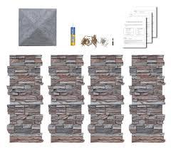 Faux Stone Column Wraps With Easy Install Kit Pole Wrap Post Covers Amazon Com Stone Columns Faux Stone Porch Remodel