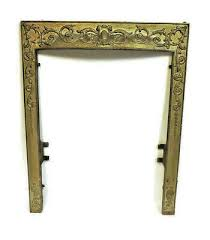 cast iron fireplace insert cover frame