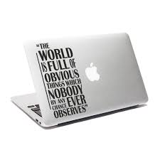 Robot Check Quote Decals Sherlock Holmes Quotes Laptop Stickers