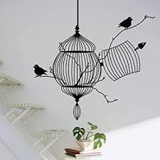 Amazon Com Bibitime Animal Wall Stickers Black Bird Tree Branch Decal Art Home Mural Decor For Living Room Bedroom Nursery Kids Room Diy 15 X 4 Home Kitchen