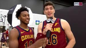 Cedi Osman takes the mic to interview Cavs teammates - YouTube
