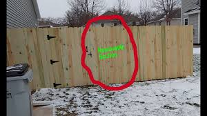 Removable Fence Posts And Removable Sections In Privacy Fence Tutorial Youtube