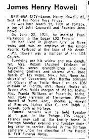 Obituary, James Henry Howell - Newspapers.com