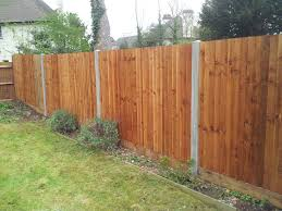 Close Board Fence In Concrete Posts With Wooden Gravel Boards Ks Fencing Surrey