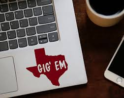 University Of Texas Decal Hook Em Horns Longhorn Yeti Decal Etsy