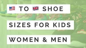 uk shoe size conversion chart kids