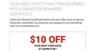 points converted to gamestop gift card