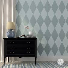 Harlequin Wall Furniture Stencil Modern Or Retro Diy Paint Project Royal Design Studio Stencils