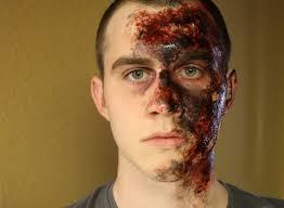 realistic burn makeup