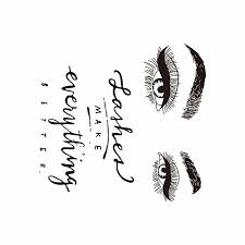 Eyelashes Eye Wall Decal Beauty Salon Decoration Stickers Lashes Make Everything Better Quote Pvc Home Wallpaper Walmart Canada