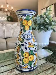 italian pottery hand painted made in