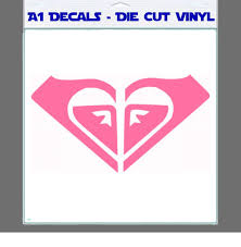 Roxy Heart Decal Sticker A1 Decals For Car Laptop Mac Book Wall Heart Decals Decals Stickers Logos